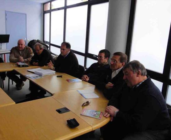 La délégation au centre de formation du CSBJ
