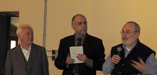 G.Moretti, A.Cipolla et S.Giunchi inaugurent