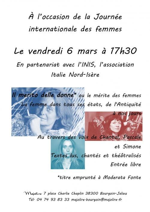 Majolire affiche lecture 6 mars