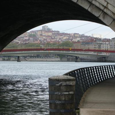 Lyon, la rivière et le fleuve. Avril 2015